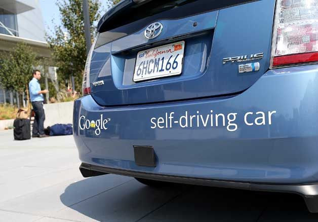 Self-driving Google Prius test car