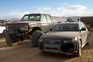 Audi Allroad covered in dust at King of the Hammers 2013