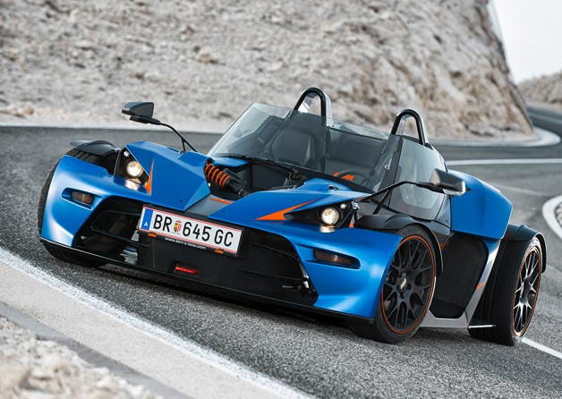 KTM X-Bow GT - front three-quarter view, static