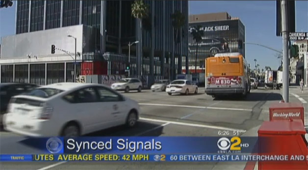 LA Synced Traffic Signals