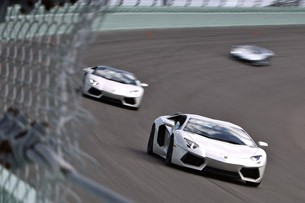 2013 Lamborghini Aventador LP 700-4 Roadster on track