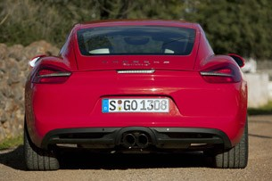 2014 Porsche Cayman S rear view
