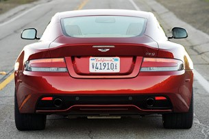 2013 Aston Martin DB9 rear view