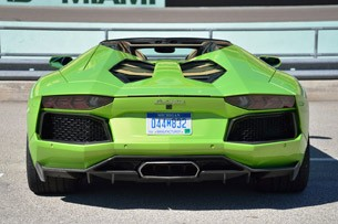 2013 Lamborghini Aventador LP 700-4 Roadster rear view