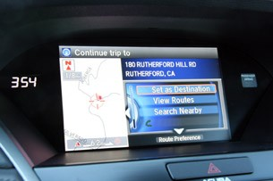 2014 Acura RLX navigation system