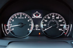 2014 Acura RLX gauges