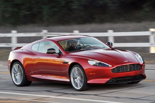 2013 Aston Martin DB9 driving