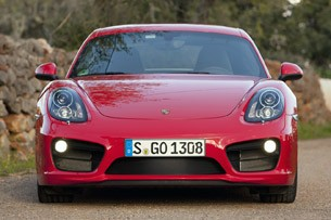 2014 Porsche Cayman S front view