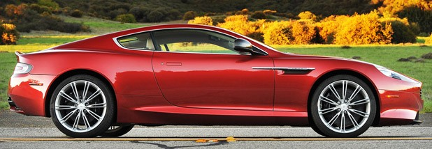 2013 Aston Martin DB9 side view