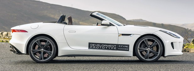 2014 Jaguar F-Type side view