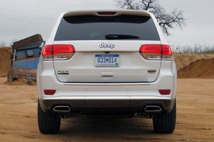 2014 Jeep Grand Cherokee EcoDiesel rear view