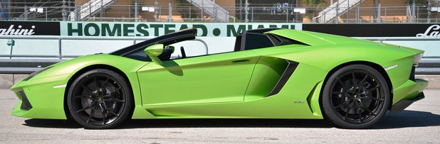 2013 Lamborghini Aventador LP 700-4 Roadster side view