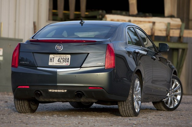 2013 Cadillac ATS 3.6 AWD rear 3/4 view