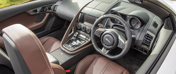 2014 Jaguar F-Type interior