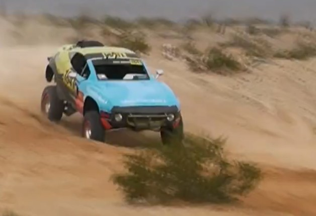 Local Motors Rally Fighter desert racing flip - video screencap