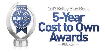 2013 Kelley Blue Book 5-Year Cost to Own Awards logo