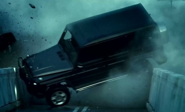 Mercedes-Benz G-Class SUV wrecked in Die Hard 5