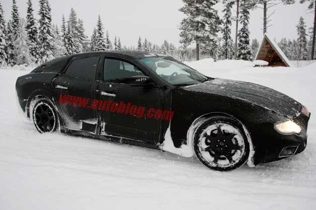 Maserati Ghibli prototype cold-weather testing