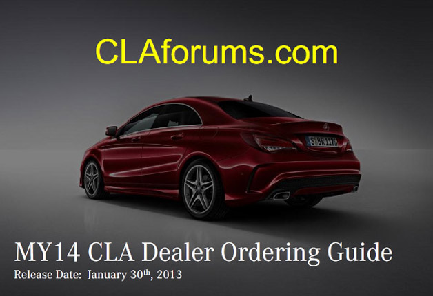 Mercedes-Benz CLA Order Guide