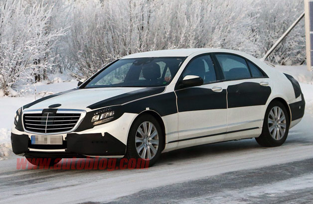2014 Mercedes-Benz S-Class sedan - spy shot with some camouflage