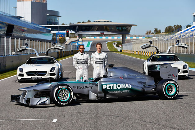 Mercedes-Petronas AMG W04 launch