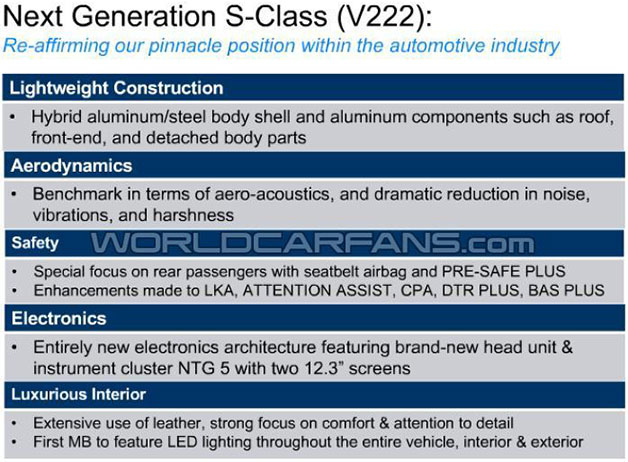 2014 Mercedes-Benz S-Class leaked information - screencap