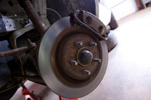 New Mach 1 rotors and calipers on a Fox Body