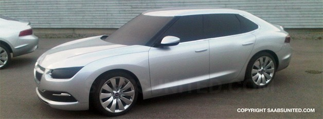 Saab 9-3 Phoenix platform design study - front three-quarter view