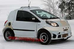 Smart ForFour antecedent speckled to one side next-gen ForTwo