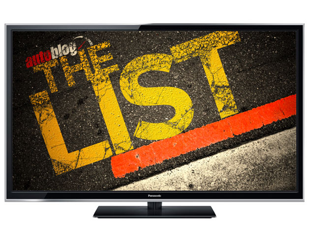 The List series graphic on flat-screen tv