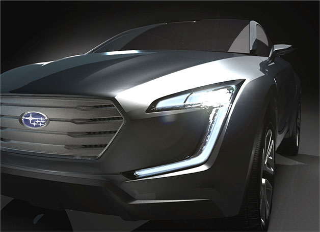 Subaru Viziv concept teaser for 2013 Geneva Motor Show