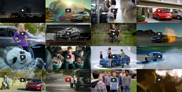 2013 Super Bowl car commercial ad mosaic