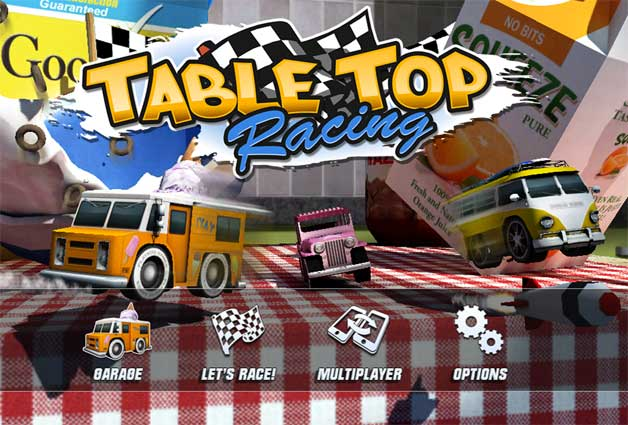 Tabletop Racing splash screen