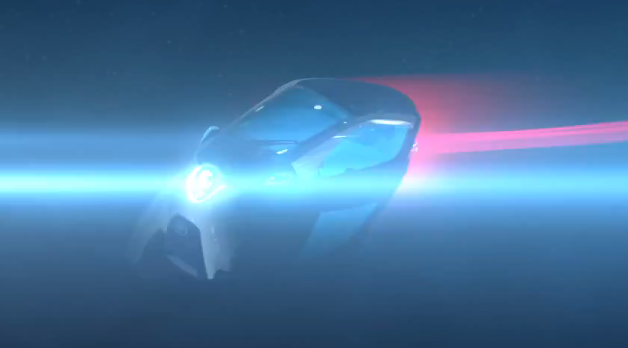 Toyota i-road tandem vehicle concept - teaser video screencap