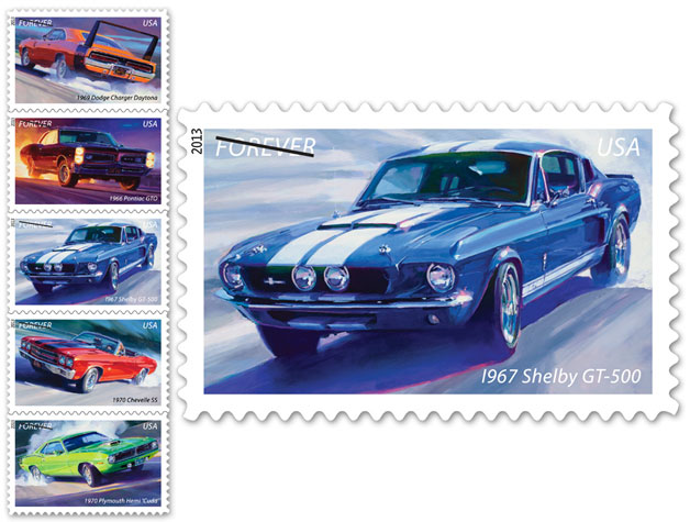 Official Muscle Cars stamps coming to a mailbox near you