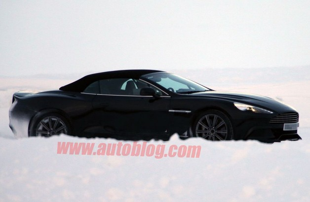 2014 Aston Martin Vanquish Volante spy shot - winter testing