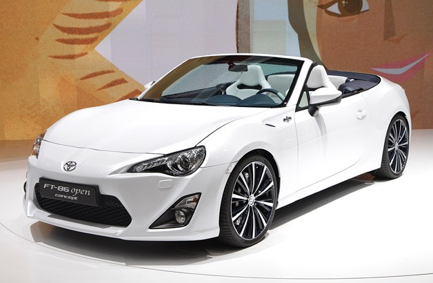 Toyota FT-86 Open Concept -  front three-quarter view at Geneva Motor Show reveal
