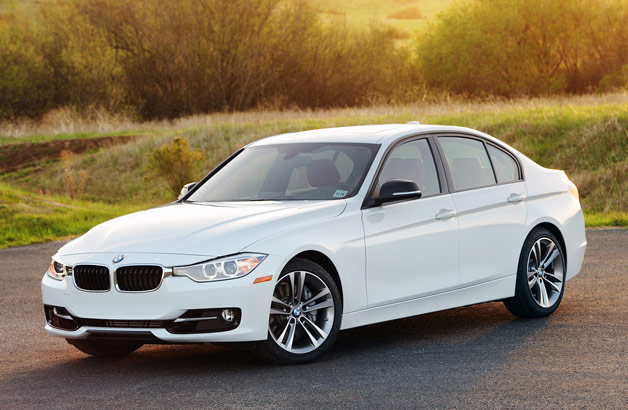 2012 BMW 335i - front three-quarter view, white
