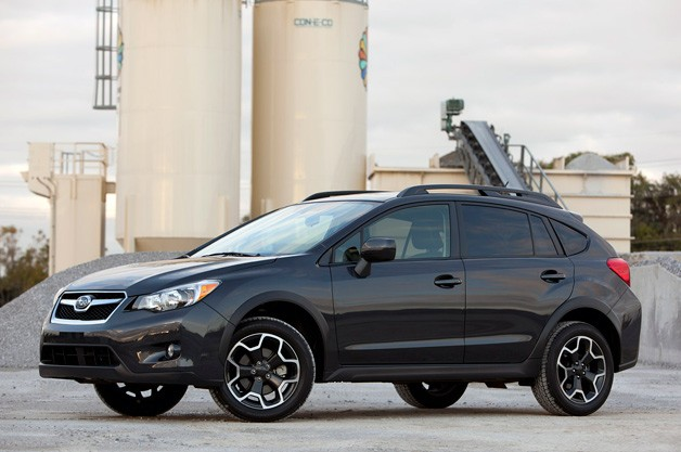 2013 Subaru XV Crosstrek - front three-quarter view, black