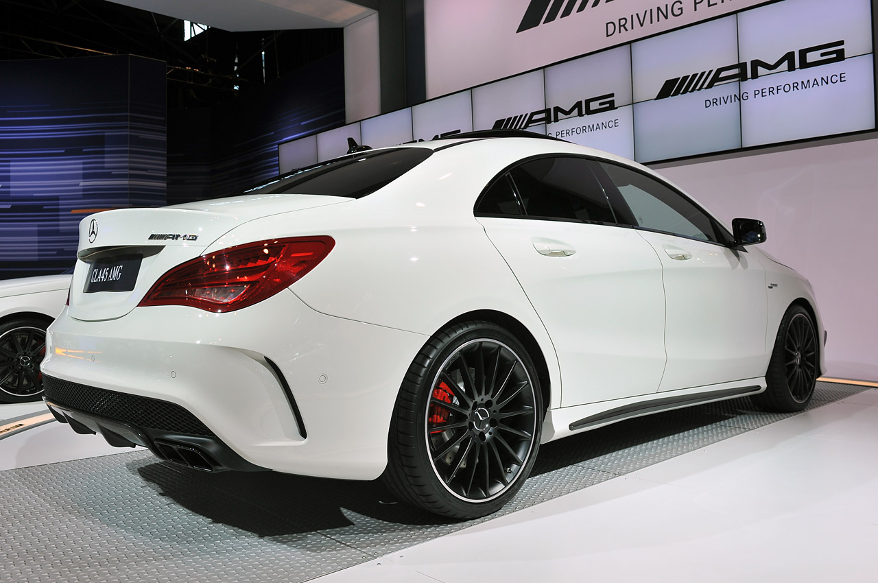 2014 mercedes cla45 amg brings world 39 s most powerful four for Mercedes benz c45 amg