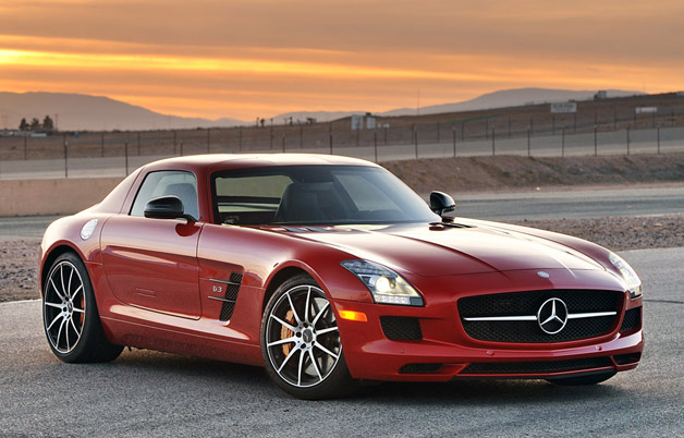 Mercedes-Benz SLS AMG GT - red - front three-quarter view