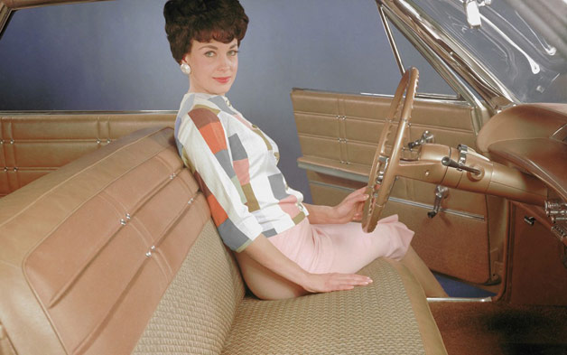 1963 Chevrolet Impala bench seat with period famale model