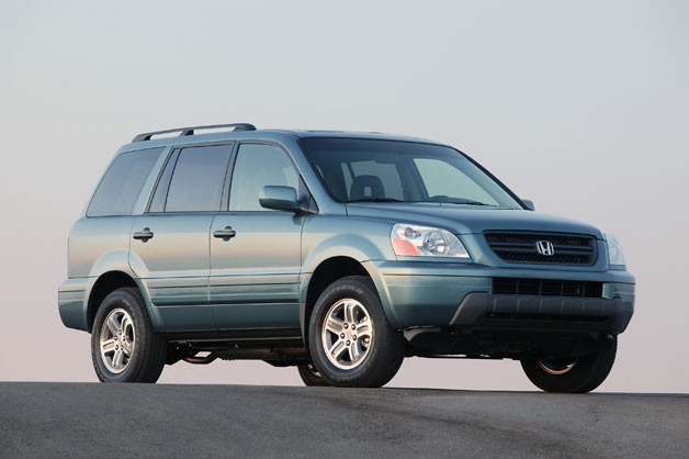 2005 Honda Pilot - front three-quarter view, blue