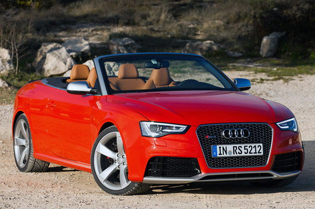 Audi RS5 Cabriolet - front three-quarter view, red
