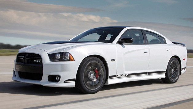 2013 Dodge Charger SRT8 392 Special Edition Package - white - front three-quarter motion view
