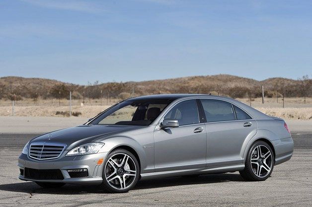 2013 Mercedes-Benz S65 AMG - front three-quarter view, charcoal gray