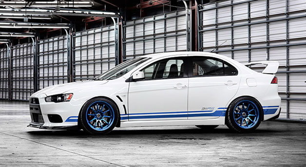 Limited Edition Mitsubishi 311RS Evo X - shallow front three-quarter view