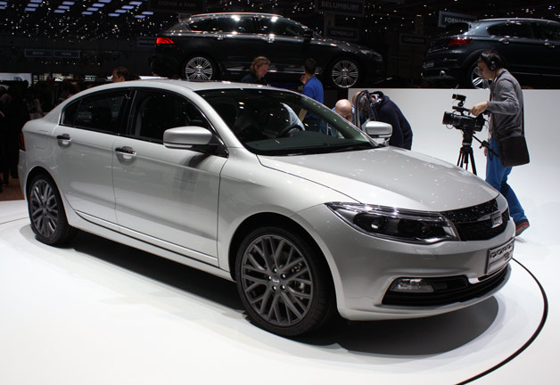 2013 Qoros 3 Sedan premiere at 2013 Geneva Motor show - front three-quarter view