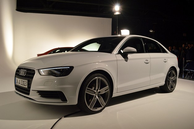 2014 Audi A3 Sedan - white - front three-quarter view