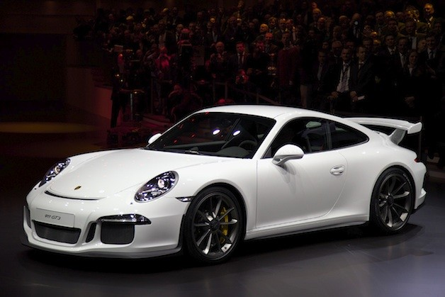 2014 Porsche 911 GT3 - front three-quarter view at Geneva Motor Show premiere